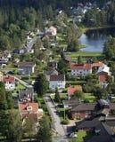 Μικρού χωριού κεντρικός δρόμος Στοκ Φωτογραφίες