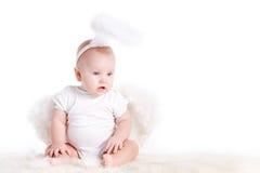 Μικρός άσπρος άγγελος Στοκ εικόνες με δικαίωμα ελεύθερης χρήσης