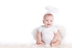 Μικρός άσπρος άγγελος Στοκ φωτογραφία με δικαίωμα ελεύθερης χρήσης