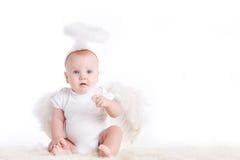 Μικρός άσπρος άγγελος Στοκ Εικόνες