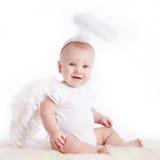 Μικρός άσπρος άγγελος Στοκ Φωτογραφία
