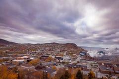 Μικρός λίγη ξύλινη πόλη Στοκ εικόνα με δικαίωμα ελεύθερης χρήσης