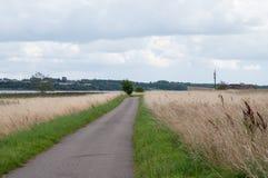 Μικρός δρόμος στο νησί Oroe στη Δανία Στοκ εικόνα με δικαίωμα ελεύθερης χρήσης