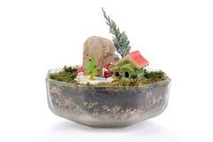 Μικρός κήπος για τα Χριστούγεννα στοκ φωτογραφίες