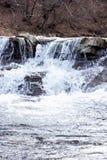μικρός καταρράκτης Ποταμός βουνών Carpathians Στοκ Εικόνες