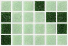 Μικρός μαρμάρινος πράσινος τετραγωνικός λαμπρός κεραμιδιών στοκ εικόνες με δικαίωμα ελεύθερης χρήσης
