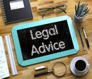Μικρός πίνακας κιμωλίας με τη νομική συμβουλή τρισδιάστατος διανυσματική απεικόνιση