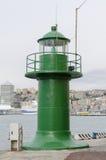 Μικρός πράσινος φάρος στη Γένοβα Στοκ εικόνα με δικαίωμα ελεύθερης χρήσης