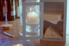 Μικρός Τύπος τυριών με τα τυριά Στοκ φωτογραφία με δικαίωμα ελεύθερης χρήσης