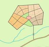Μικρός χάρτης πόλεων Στοκ Εικόνα