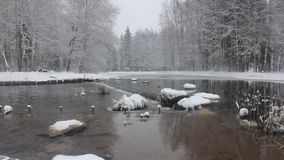 μικρός χειμώνας καταρρακ&ta απόθεμα βίντεο