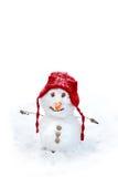 Μικρός χιονάνθρωπος μωρών Στοκ Φωτογραφία