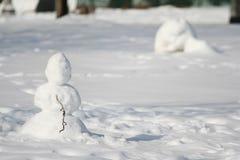 Μικρός χιονάνθρωπος Στοκ Φωτογραφία