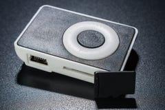 Μικρός mp3 φορέας με τη κάρτα μνήμης μικροϋπολογιστών SD Στοκ Εικόνες
