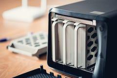 Μικρός NAS κεντρικός υπολογιστής Στοκ φωτογραφία με δικαίωμα ελεύθερης χρήσης