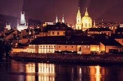 Μικρότερος πύργος πόλης γεφυρών, μοναστήρι Strahov, εκκλησία του Άγιου Βασίλη Στοκ Εικόνα