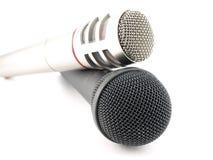 μικρόφωνα δύο Στοκ φωτογραφία με δικαίωμα ελεύθερης χρήσης