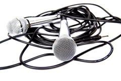 μικρόφωνα δύο Στοκ εικόνα με δικαίωμα ελεύθερης χρήσης