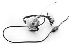 μικρόφωνο ακουστικών βραχιόνων Στοκ Εικόνα