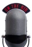 μικρόφωνο αναδρομικό Στοκ Εικόνα