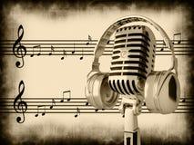 μικρόφωνο αναδρομικό διανυσματική απεικόνιση