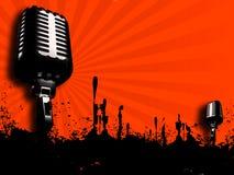 μικρόφωνο αναδρομικό ελεύθερη απεικόνιση δικαιώματος