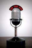 μικρόφωνο αναδρομικό Στοκ φωτογραφίες με δικαίωμα ελεύθερης χρήσης