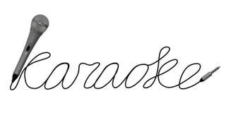 Μικρόφωνο για το καραόκε Στοκ εικόνες με δικαίωμα ελεύθερης χρήσης
