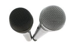μικρόφωνο δύο Στοκ Εικόνες