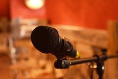 Μικρόφωνο και εξοπλισμός για τα γεγονότα Στοκ Εικόνες