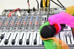Μικρόφωνο και υγιής έλεγχος Στοκ εικόνα με δικαίωμα ελεύθερης χρήσης