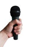 Μικρόφωνο που απομονώνεται υπό εξέταση Στοκ φωτογραφία με δικαίωμα ελεύθερης χρήσης