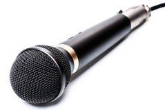Μικρόφωνο που απομονώνεται Στοκ φωτογραφία με δικαίωμα ελεύθερης χρήσης