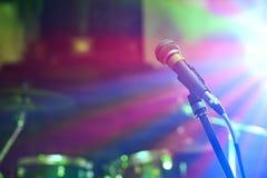 Μικρόφωνο στη συναυλία Στοκ Εικόνες