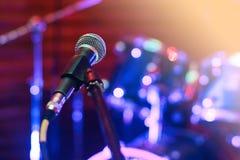 Μικρόφωνο στη συναυλία Στοκ Εικόνα