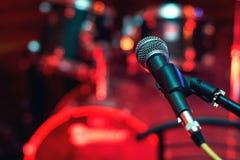 Μικρόφωνο στη συναυλία Στοκ Φωτογραφίες