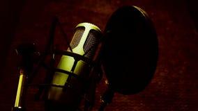 Μικρόφωνο στούντιο απόθεμα βίντεο