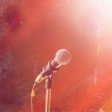 Μικρόφωνο συναυλίας στοκ φωτογραφίες