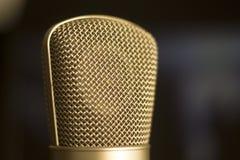 Μικρόφωνο φωνής καταγραφής στούντιο Στοκ Εικόνα