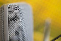 Μικρόφωνο φωνής καταγραφής στούντιο Στοκ Φωτογραφία
