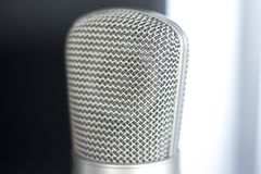 Μικρόφωνο φωνής καταγραφής στούντιο Στοκ εικόνα με δικαίωμα ελεύθερης χρήσης