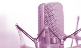 Μικρόφωνο φωνής καταγραφής στούντιο Στοκ φωτογραφία με δικαίωμα ελεύθερης χρήσης