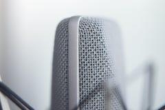 Μικρόφωνο φωνής καταγραφής στούντιο Στοκ εικόνες με δικαίωμα ελεύθερης χρήσης