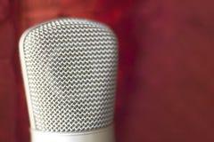 Μικρόφωνο φωνής καταγραφής στούντιο Στοκ Εικόνες