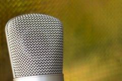 Μικρόφωνο φωνής καταγραφής στούντιο Στοκ Φωτογραφίες