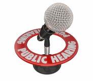 Μικρόφωνο φόρουμ συνεδρίασης της δημόσιας ακρόασης απεικόνιση αποθεμάτων