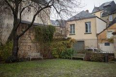 Μικρό γαλλικό ρομαντικό πάρκο Στοκ Εικόνες