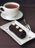 Μικρό γλυκό κέικ σοκολάτας στοκ εικόνα