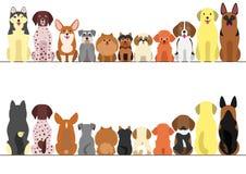 Μικρό και μεγάλο σύνολο συνόρων σκυλιών ελεύθερη απεικόνιση δικαιώματος
