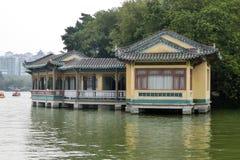 Μικρό κινεζικό κτήριο ύφους από τη δυτική λίμνη Huizhou στοκ εικόνες με δικαίωμα ελεύθερης χρήσης